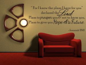 For-I-Know-The-Plans-Jeremiah-29-11-Vinyl-Wall-Quote-Decal-Bible-Word ...