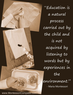Describe what montessori means by a spontaneous observer of nature