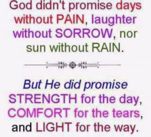 God's promises.