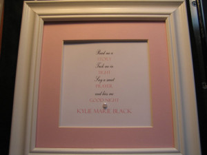 Personalized framed quote for Baby Girl - 9x9 -