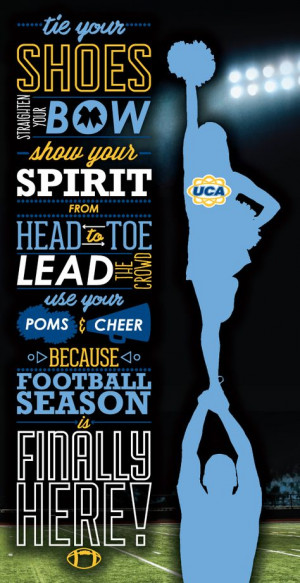 UCA wants to wish you Good Luck at your first game this year! More