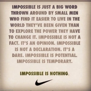 """... the ability to constantly overcome adversity and failure."""" – Nike"""