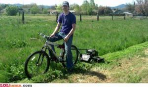 bike lazy lawn mower