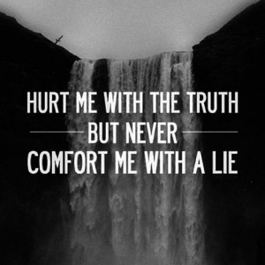 Hurt Me With The Truth Quotes The Truth but Don 39 t Hurt Me