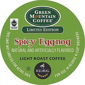 ... Spice, Gingerbread or Eggnog Coffee K-cups, 24pk, $6.99 at Staples.com