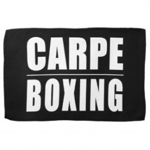 Funny Boxers Quotes Jokes : Carpe Boxing Hand Towel