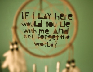 chasing cars, dream catcher, pretty, quote, snow patrol