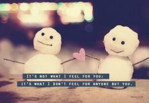 not what i feel for you it s what i don t feel for anyone but you ...