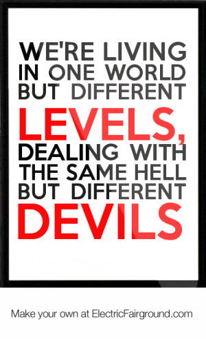 Same Different Levels Quote Devil