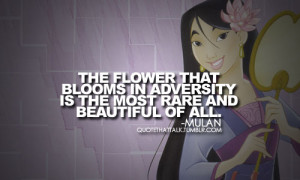 Mulan quote. :) - disney-princess Fan Art