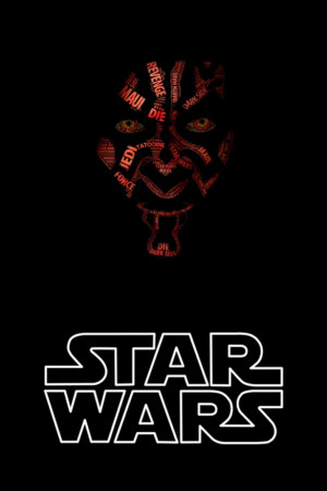 Darth Maul made of quotes