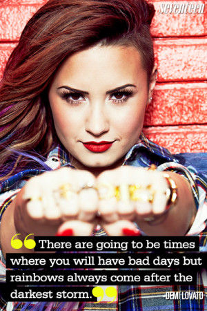 Most Inspiring Quotes Demi Lovato Pinterest Quotes – Seventeen ...