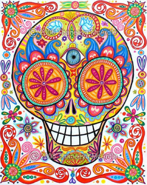 Good Morning, Catrina Mexicana, Delos Muertos, Art Sobre, Sugar Skull ...