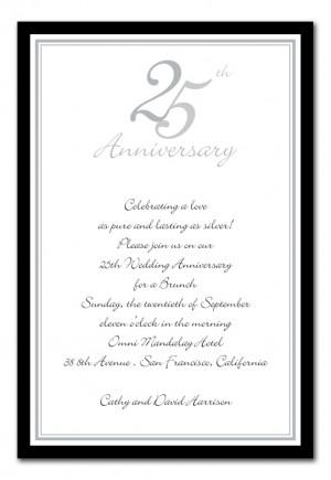Wedding Anniversary Invitation Quotes ~ 60p each, Wedding Anniversary ...