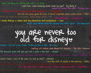 ... You Are Never Too Old For A Disney Movies Photos - Profile Pictures