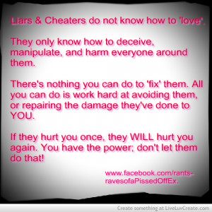 Hate Liars And Cheaters
