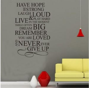 HAVE-HOPE-English-Quote-Vinyl-Wall-Stikers-Removable-Wall-Art-Decals ...