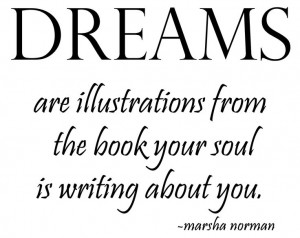 Dreams are illustrations...from the book your soul is writing about ...