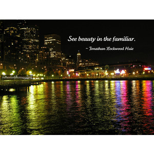 Inspirational quotes photography night cityscape neon-light water refl ...