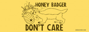 Honey Badgers Dont Care Facebook Cover