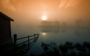 wallpaper, morning, foggy, daily, river, sites