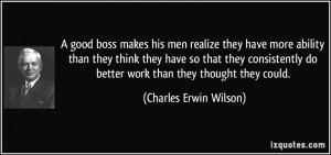 Great Boss Quotes However, to make decisions,