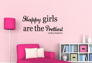 ... Are The Prettiest - Vinyl Wall Quote Mural Decal Art Audrey Hepburn