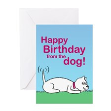 Greeting Card - Happy birthday from the dog for