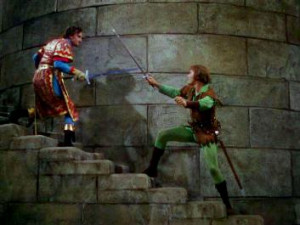... Adventures of Robin Hood - Robing Hood and Sir Guy of Gisbourne fight