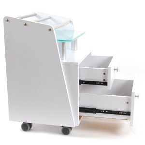 Pedicure Cart with Glass Top