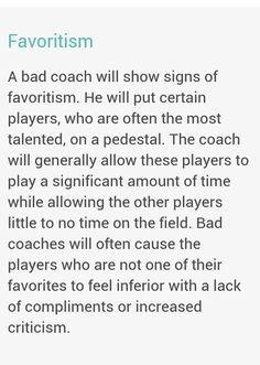 coaching #favoritism More