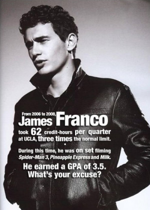James Franco Inspirational Picture Quote