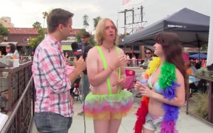 and San Diego talk show host Mike Slater attended last weekend's Gay ...