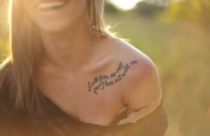 Quotes On Collar Bone Tattoos