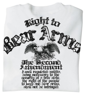 Home SALES Closeout Right to Bear Arms - The Second Amendment T-Shirt