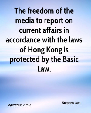 The freedom of the media to report on current affairs in accordance ...