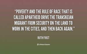 RUTH FIRST QUOTES