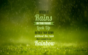 Rainy Wallpaper With Quotes