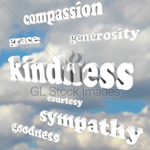 Kindness Words In Sky Compassionate Generous Background