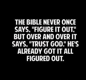 Trust God!!!
