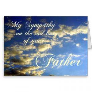 sympathy loss of dad