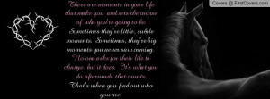 Life quote with horse Profile Facebook Covers