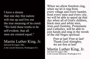 Martin Luther King Jr. Filler Card Quote Freebies