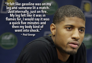 Paul George Describes What It Feels Like To Suffer A Horrific Broken ...