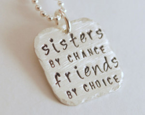 Sisters By Chance - Friends By Choi ce Jewelry Gift for Sister Hand ...
