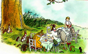 Illustration by Ernest H. Shepard from Winnie-the-Pooh Chapter X