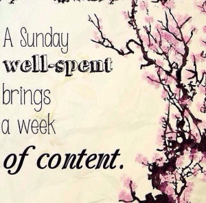 Sunday well-spent brings a week of content #yes