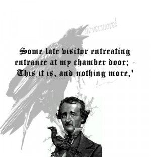 From The Raven by Edgar Allan Poe