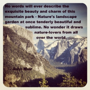John Muir Quote #96. Half Dome, Yosemite national park