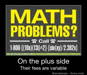 Math Funny Quotes Credited